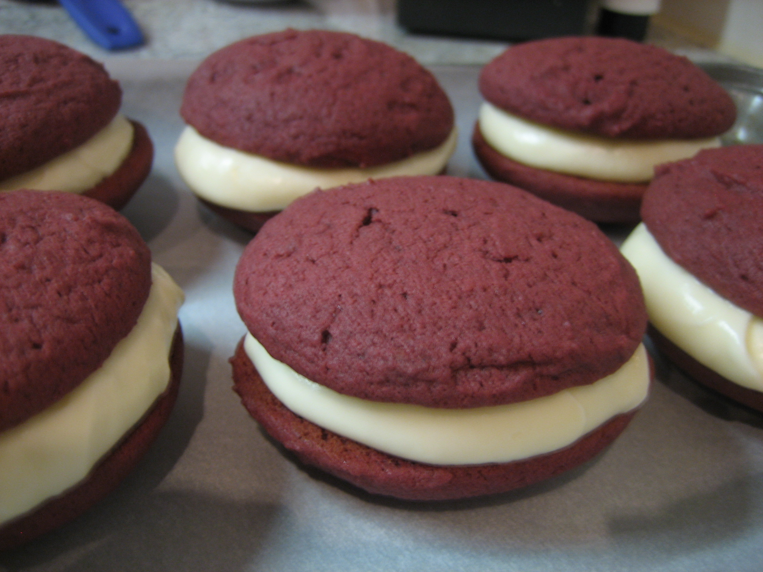 Red Velvet Whoopie Pies — What's Cooking on Planet Byn
