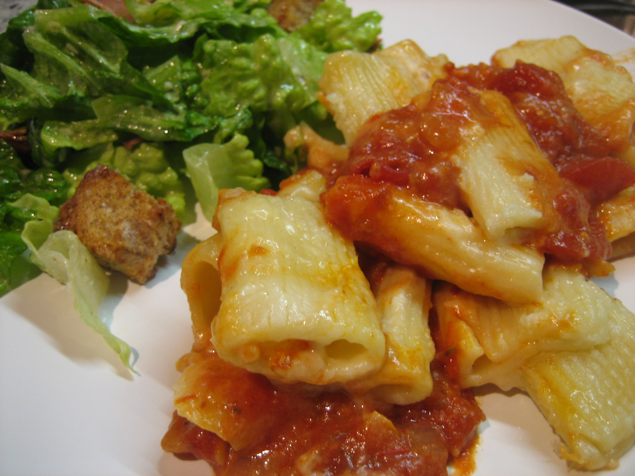 Baked Pasta with Three Cheese & Tomato Sauces — What's Cooking on ...