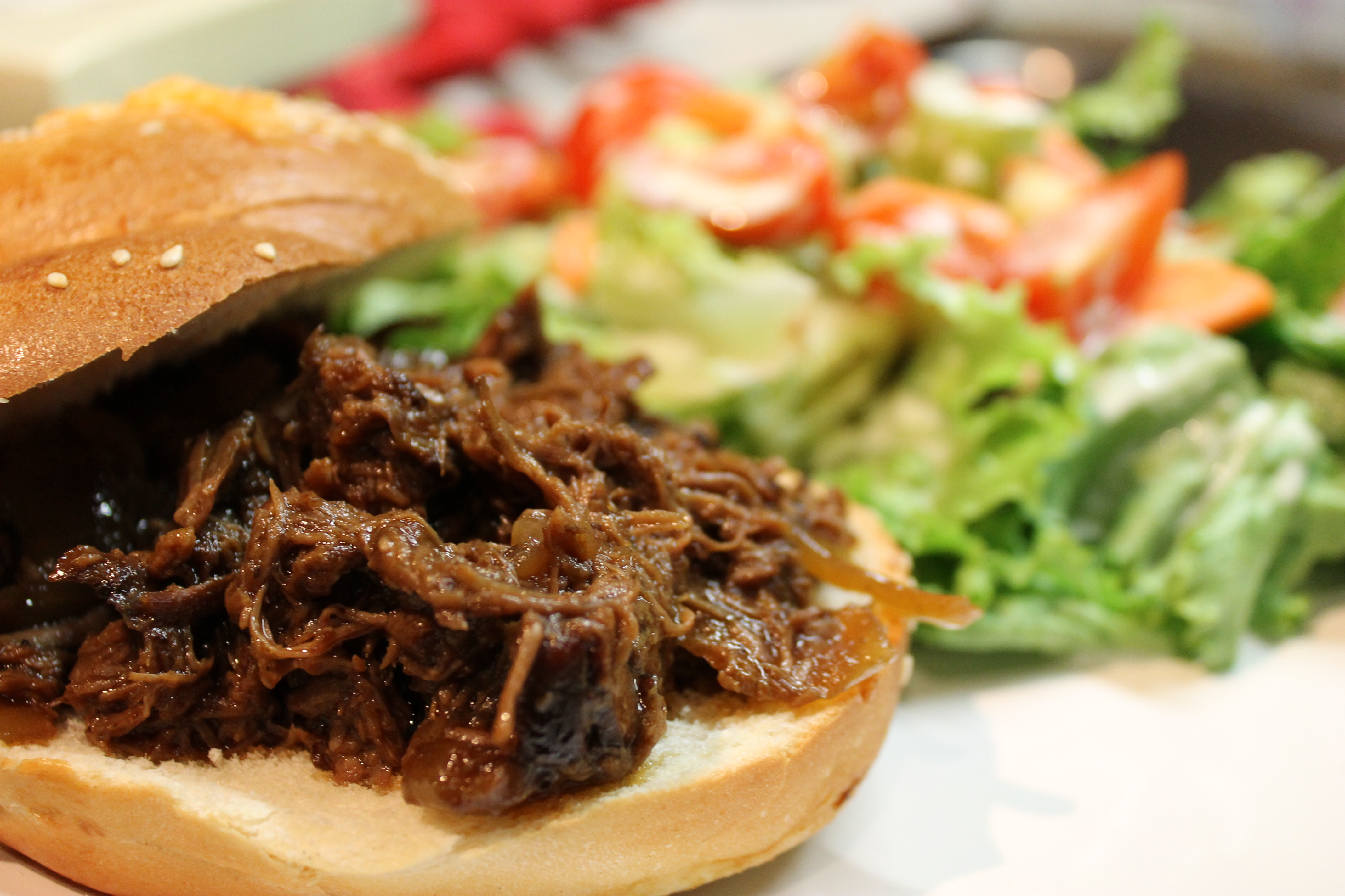 Pulled Braised Beef & Onions — What's Cooking on Planet Byn