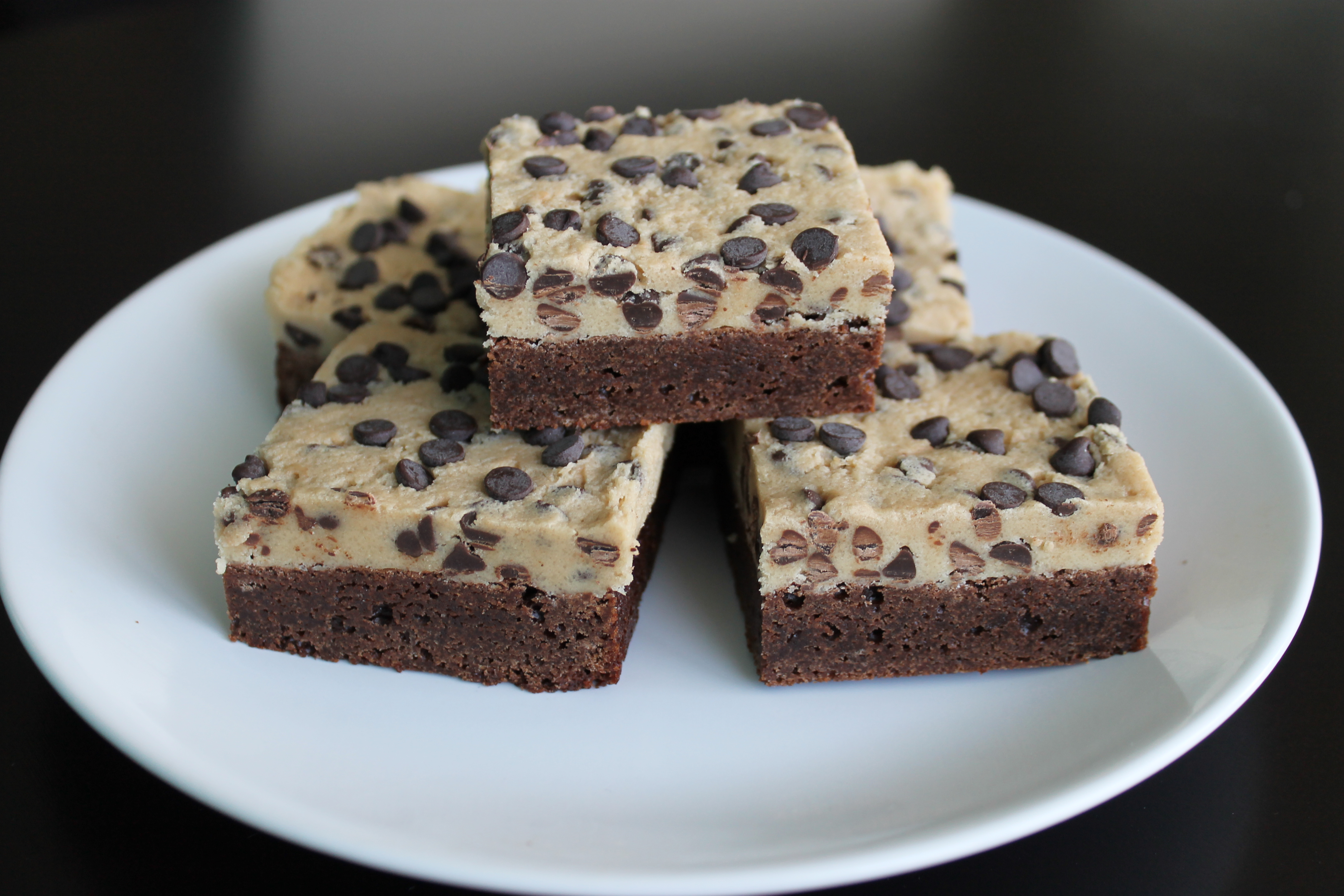 Chocolate Chip Cookie Dough Brownies Recipe — Dishmaps