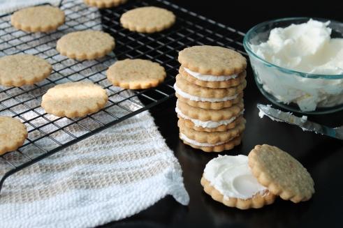 Malted Milk Sandwich Cookies
